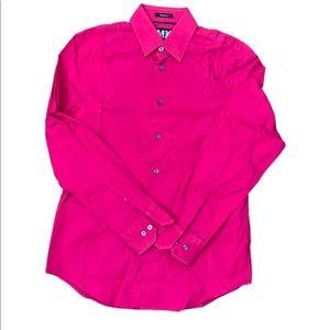 Express Mens fushia dress shirt
